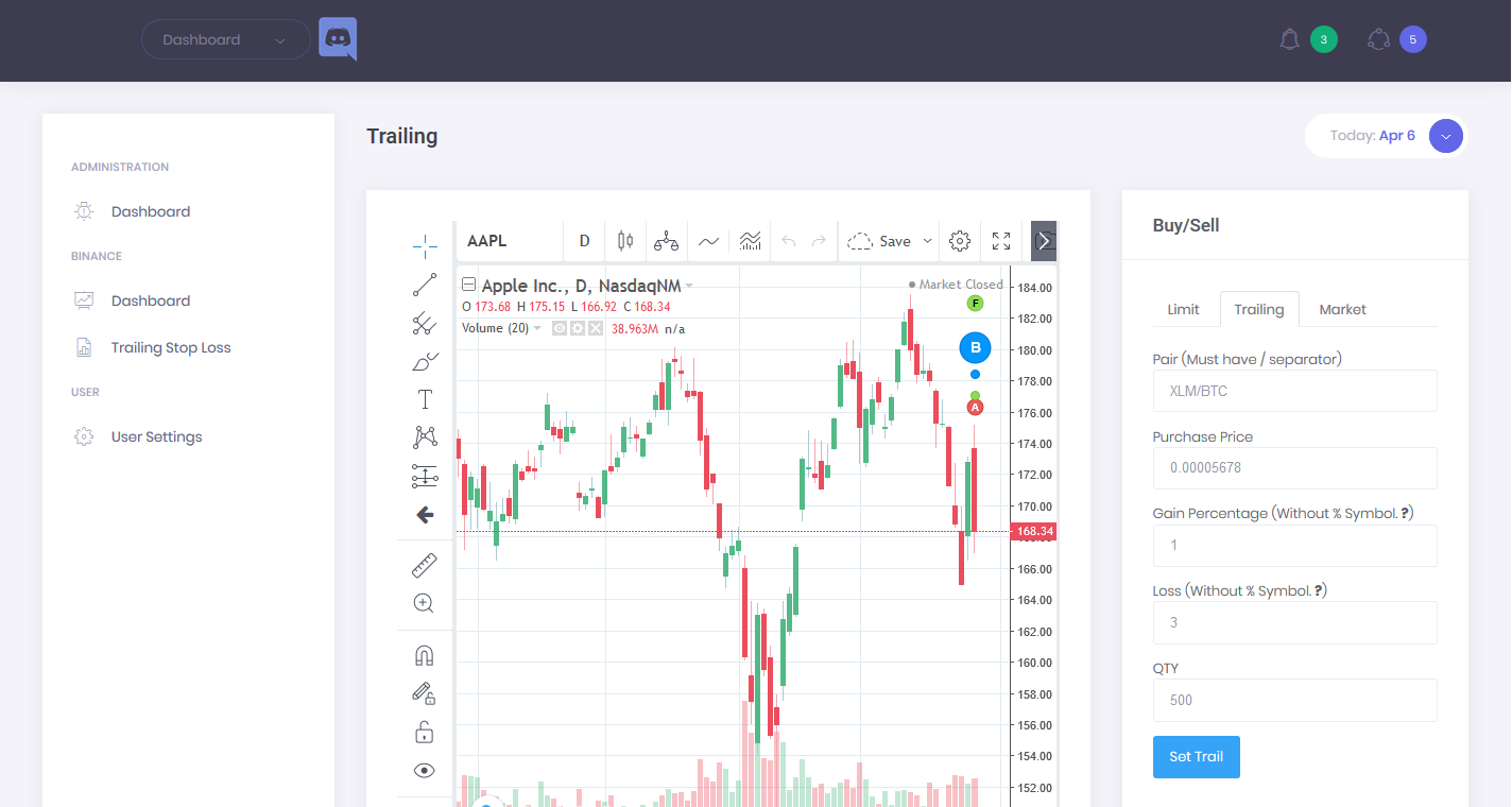 CoinTrailing